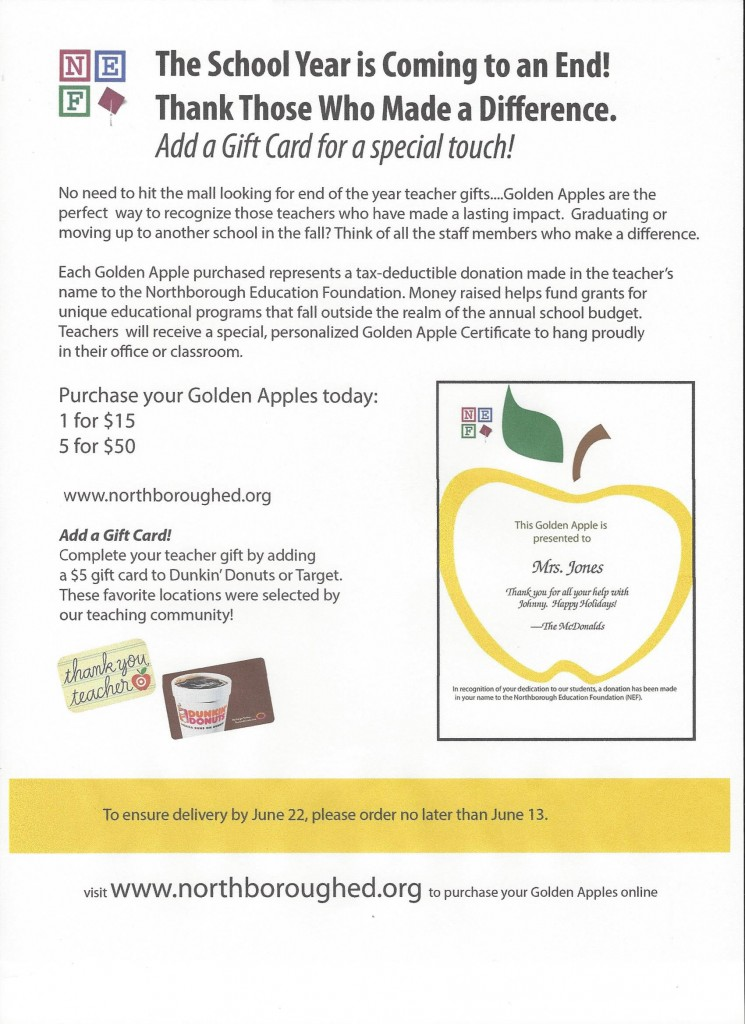 Golden Apple end of year